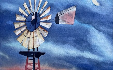 Windmill and Moon: Tim Barraud