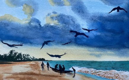 Crows at Dusk: Tim Barraud